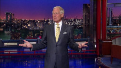 Check out David Letterman's striking retirement look