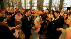 Andy Grammer performs 'Honey, I'm Good' for our TODAY wedding couple