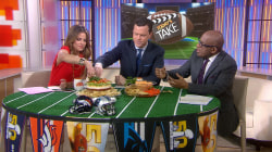 TODAY anchors make their Super Bowl 50 picks: The snacks!