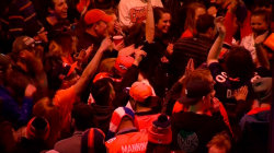 Broncos Fans Celebrate Super Bowl Victory in Downtown Denver