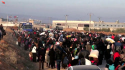 Thousands of Syrians Flock to Turkish Border North of Aleppo