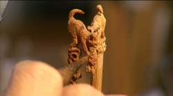 World's Smallest Monkey Sculpture Carved To Celebrate New Year