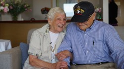 See the Moment 93-Year-Old Vet Is Reunited With His WWII Love