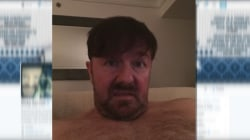 Gervais explains shirtless Vine video selfie