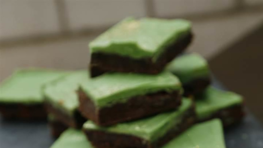 Guinness Salted Chocolate Brownies with Peppermint White ...