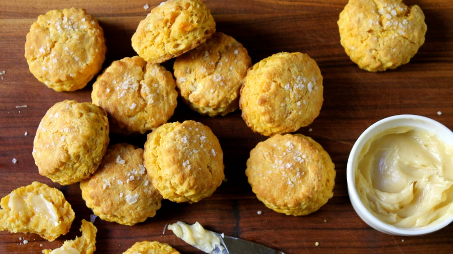 Sweet Potato Biscuits with Salted Maple Butter - TODAY.com