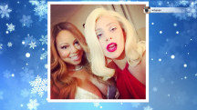 Mariah Carey takes selfie with Lady Gaga
