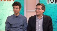 'Paper Towns' Nat Wolff and John Green hug it out on TODAY