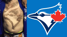 Blue Jays fan shaves team logo into his chest hair