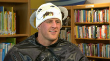 Full interview: Texans star JJ Watt surprises children's hospital