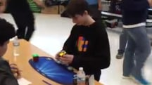 14-year-old sets new Rubik's Cube record of…