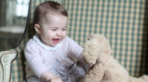 Princess Charlotte poses with toy dog in adorable new photos