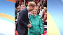 Olympian fell just to get Prince Harry's attention, Dylan jokes