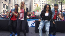 Salt-N-Pepa 'Push It' back into the '90s on the TODAY plaza
