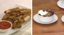 Cooking for Mom? Try this appetizer and dessert for under 500 calories