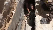 Young Girl Rescued From Rubble After Airstrike in Aleppo