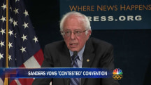 Bernie Sanders Vows a Contested Democratic Convention