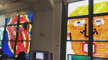 Epic 'Post-It War' plasters NYC office windows with playful designs