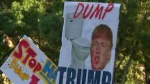 Is anything accomplished from protests at Trump rallies?
