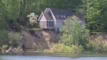 Landslide Leaves House Teetering