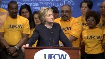 Clinton Tells Crowd to 'Reject' Trump's Vision of Immigration Reform
