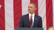 Obama: 'We Are So Thankful of Those Families of The Fallen'