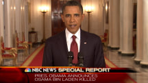 May 1, 2011: President Obama Announces Bin Laden's Death