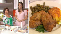 Savannah's mom cooks delicious fried chicken