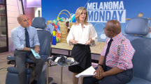 Matt Lauer, Al Roker learn about men and melanoma