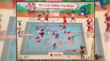 'Racist' pool safety poster spurs apology from Red Cross