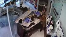 See Car Crash Through Salon Window