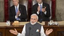 India's Prime Minister Modi Addresses Congress