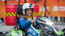 Watch Hoda, Natalie, Matt and Al race on the plaza - in go-karts!