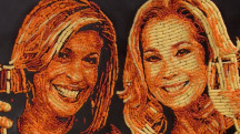 Say cheese! KLG and Hoda are made into a Cheetos portrait