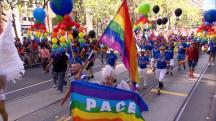 Gay Pride parades draw record crowds, heavy police presence