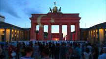 Brandenburg Gate Displays the Turkish Flag in Respect for Fallen