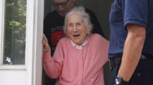 Firefighters offer sweetest surprise to widow on 100th birthday