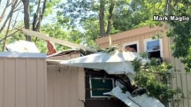 Caught on camera: Small plane crashes into Connecticut home