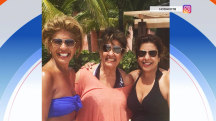 Hoda dons bikini to visit Bahamas with her mom, sister