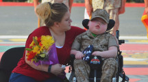 Boy with fatal illness becomes honorary Marine the day before he passes away