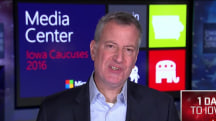 De Blasio: Clinton has most progressive platform