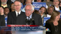 NBC News Projects Bernie Sanders Wins New Hampshire Primary