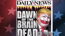 'Mindless zombies' back Trump, says NY paper