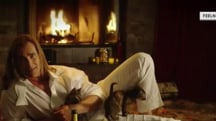 Fabio, Yule-log style, is here to keep you warm on Valentine's Day