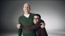 Bruce Willis wants you to hug for safety