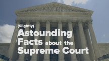 (Slightly) Astounding Facts About the Supreme Court