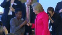 Kid Asks Hillary Clinton 'How is it like Meeting Donald Trump'?