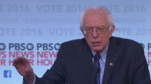 Sanders Surprised Over 'White People' Topic at Debate