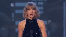 Taylor Swift gives 'boyfriend Adam' a shout-out at iHeart Awards