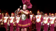 Will Ferrell dons Trojan armor to lead USC marching band